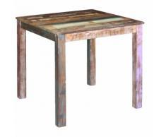 vidaXL Tavolo da Pranzo in Legno Massello di Recupero 80x82x76 cm