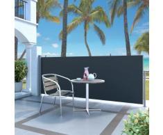 vidaXL Tenda da Sole Laterale Retrattile 120 x 300 cm Nera