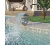 vidaXL Fontana per Piscina in Acciaio Inossidabile 50x30x53 cm Argento