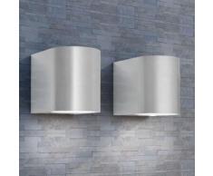 vidaXL Lampada da parete per esterno 2 pz