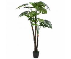 vidaXL Monstera Pianta Artificiale con Vaso 130 cm Verde