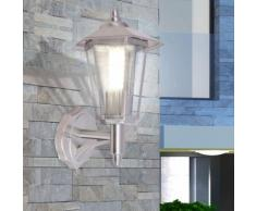 vidaXL Lampada da parete per esterno in acciaio inox