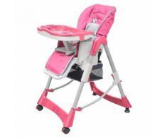 vidaXL Seggiolone per Bambini Deluxe Rosa Altezza Regolabile