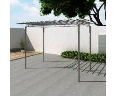vidaXL Arco pergola da giardino per rose in acciaio decorazione giardino