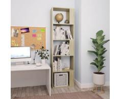 vidaXL Libreria/Divisorio Rovere Sonoma 45x24x159 cm in Truciolato