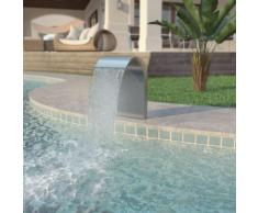 vidaXL Fontana per Piscina in Acciaio Inossidabile 45x30x65 cm Argento