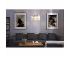 Beliani Lampada da soffitto in color cromo e cristallo TENNA S