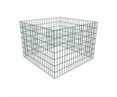 vidaXL Compostiera da giardino rete quadrata 100 x 100 x 70 cm