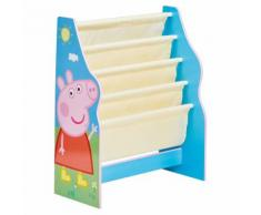 Peppa Pig Mensola per Libri per Bambini 51x23x60 cm Blu WORL213012