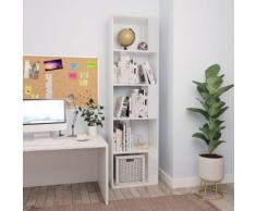 vidaXL Libreria/Divisorio Bianco Lucido 45x24x159 cm in Truciolato