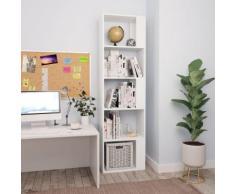 vidaXL Libreria/Divisorio Bianco 45x24x159 cm in Truciolato
