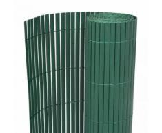 vidaXL Recinzione da Giardino a Doppio Lato 195x500 cm Verde