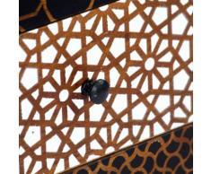 vidaXL Credenza con Motivo Stampato 90x30x70 cm in Massello di Mango