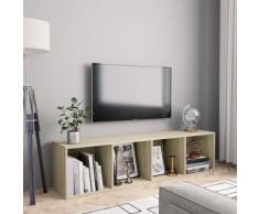 vidaXL Libreria/Mobile TV Rovere Sonoma 143x30x36 cm