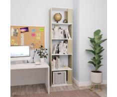 vidaXL Libreria/Divisorio Bianco Rovere Sonoma 45x24x159 cm Truciolato