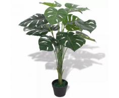 vidaXL Monstera Pianta Artificiale con Vaso 70 cm Verde