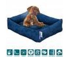 Evergreenweb Letto per Cani di diverse Taglie color Blu, Imbottitura in Schiuma Waterfoam Morbido Lavabile in Lavatrice, Cuccia da Interno con Cuscino Sfoderabile, Materasso per Tutti Animali Domestici