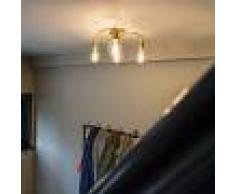 QAZQA Plafoniera Art Deco ottone 4-luci - FACILE