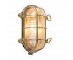 QAZQA Lampada da soffitto/parete 'Nautica O' rustica oro - adatta per LED / esterna, interna, bagno