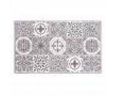 Maisons du Monde Tappeto da bagno in cotone a motivi piastrelle, 50x80