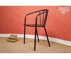 Sedia in metallo Brienon in stile vintage