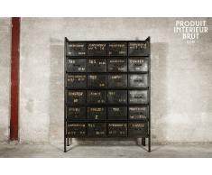 Cassettiera da 24 cassetti in stile vintage