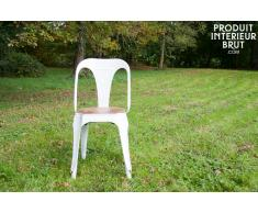 Sedia in metallo e legno Multipl's in stile vintage