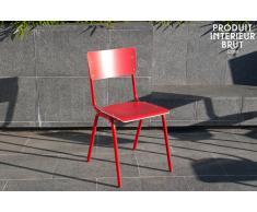 Sedia rossa Skole in stile nordico