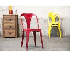 Sedia rossa Multipl's in stile vintage