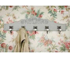 Appendiabiti a muro decorato Ceramic in stile shabby chic
