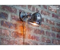 Lampada da Parete Argentata Tipo Faretto in stile vintage