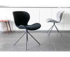 Sedia nera Hetsik in stile nordico
