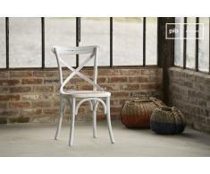 Sedia Pampelune bianca in stile shabby chic