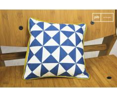 Piccolo Cuscino Norway blu in stile nordico