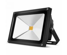 2 × 50W IP65 COB Faretto da Esterno LED Bianco Caldo Floodlight Proiettore Esterno Impermeabile per