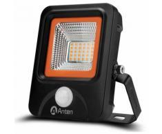 10 × Proiettore Luce Faro LED Faretto Esterno con Sensore di Movimento 20W SMD 3030 2200LM