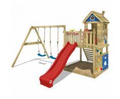 Parco giochi WICKEY Smart Lodge 120 Gioco da giardino in legno, set da Gioco