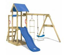 Parco giochi WICKEY TinyPlace Gioco da giardino per bambini con altalena, scivolo, sabbiera, tetto
