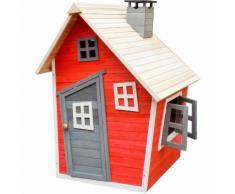 Casetta giocattolo ecologica per bambini in legno di abete rosso Casa di legno Giardino