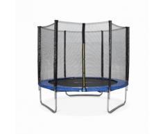 Tappeto elastico da giardino 250 cm colore blu con rete di protezione - Fino a 150kg  Alice's Garden