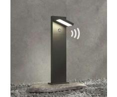 Lampione a LED Silvan, 65 cm, con sensore