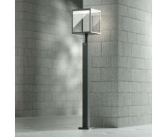 Lampioncino a LED Cube grigio grafite IP54, 100 cm