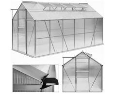 Serra da giardino policarbonato e alluminio 7,22 mq 380x190 x195 cm