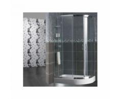 Box doccia semicircolare 70x90 cm trasparente