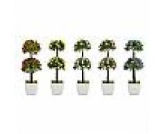 Bonsai artificiale decorativo con vaso albero pianta finta con fiori piantina arredo casa