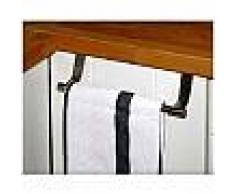 Appendino da porta anta per asciugamani e strofinacci barra in acciaio 23 cm si aggancia alle porte salvaspazio