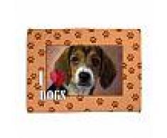 Coperta per cani Impronte arancio