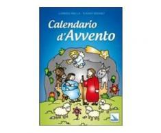 Calendario d'Avvento. Con poster a finestre numerate. Con adesivi - G