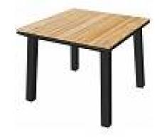 Tartaruga Pircher tavolo giardino Soho 90x90 in Alluminio verniciato Antracite e legno di Teak