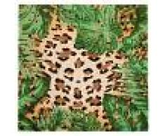 Maisons du Monde Zerbino in fibra di cocco stampa leopardo, 45x45 cm